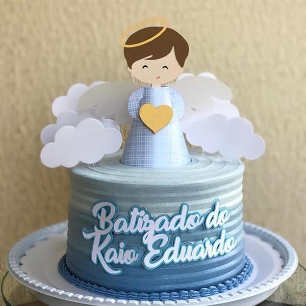topo de bolo de batizado