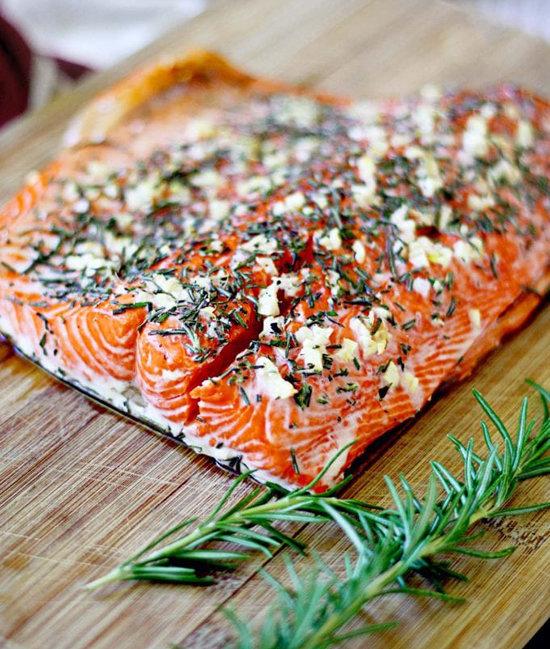 salmão com alecrim