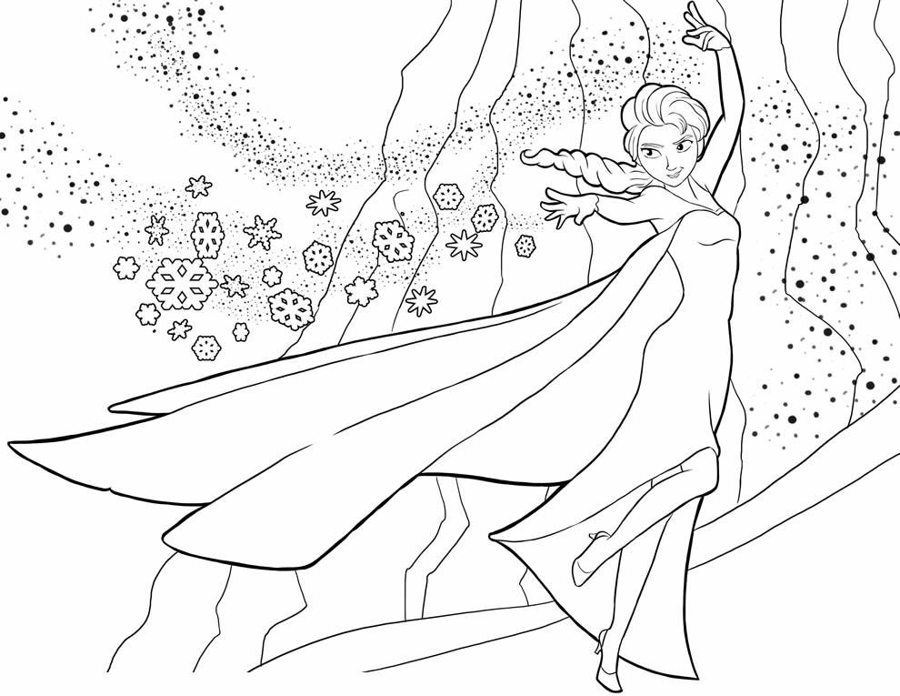 Desenho de Frozen para colorir