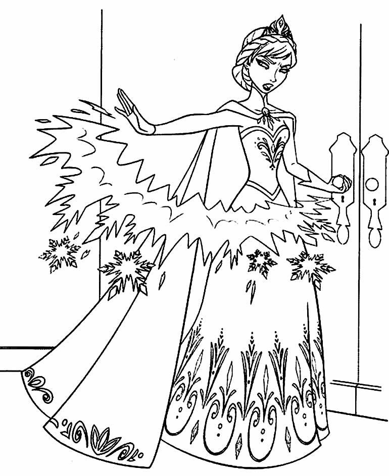 Lindo desenho da Anna - Frozen