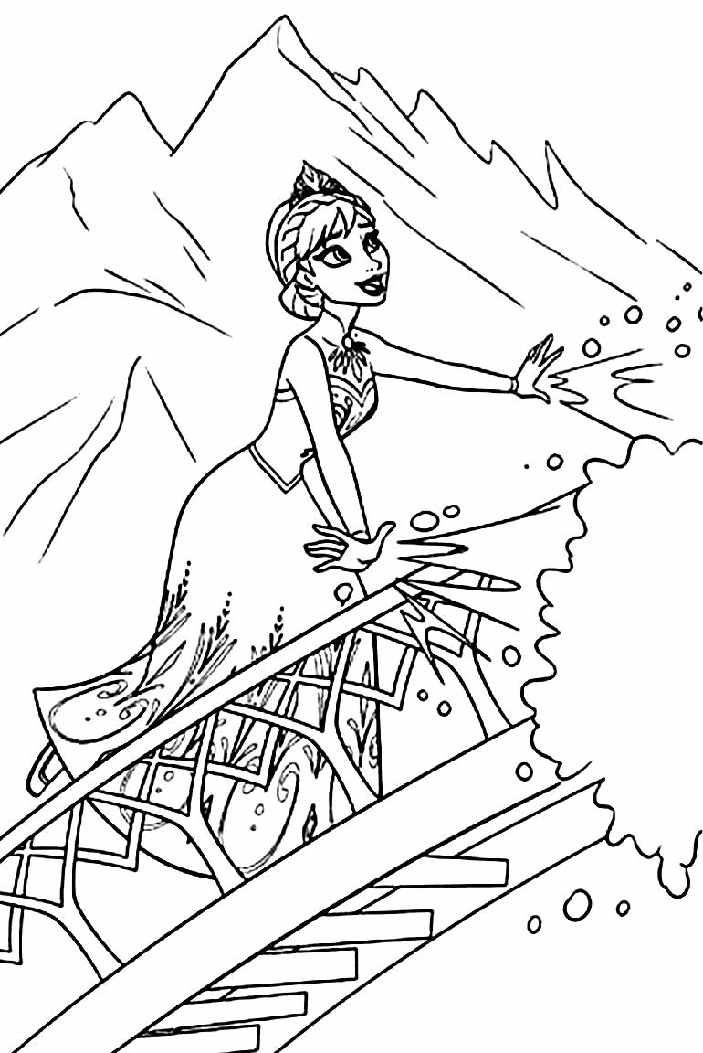 Desenho da Anna - Frozen