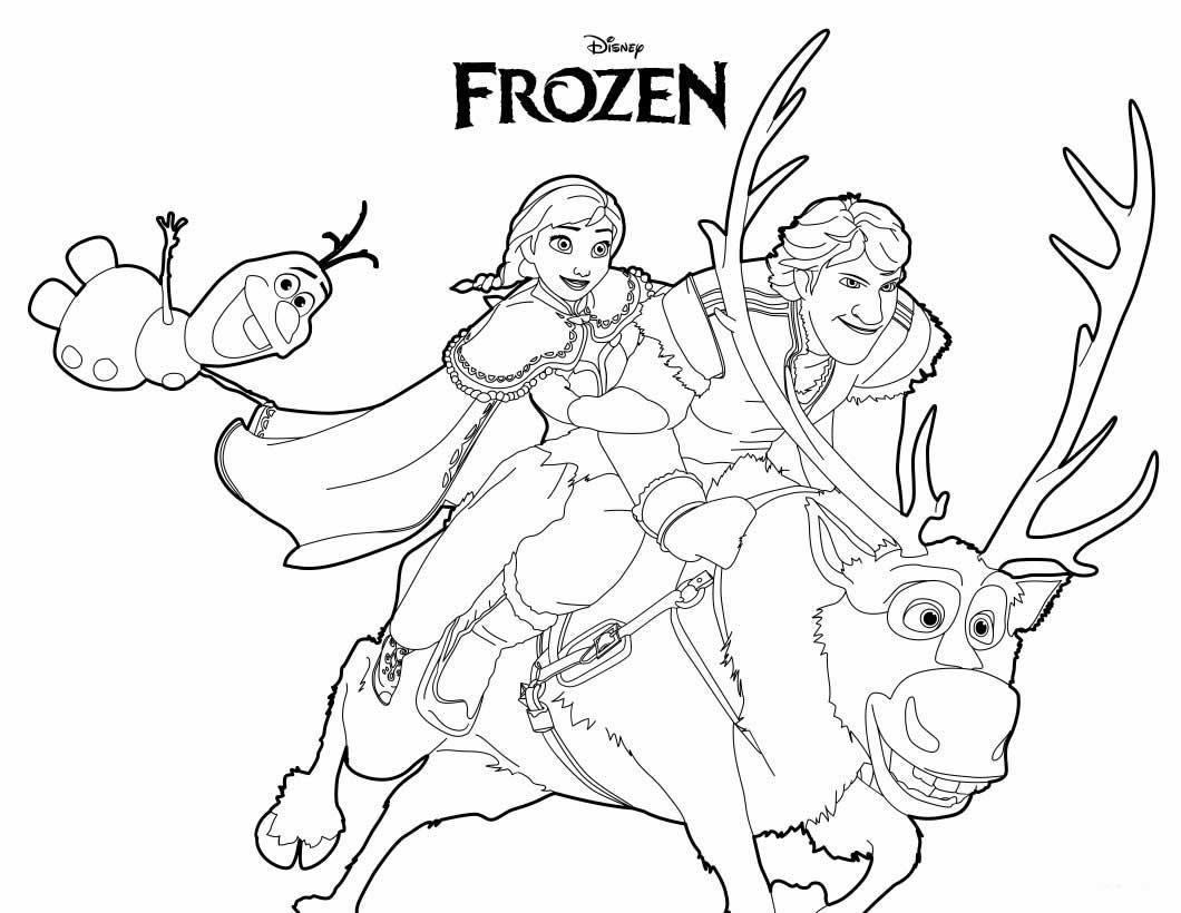 Desenho de Frozen para pintar