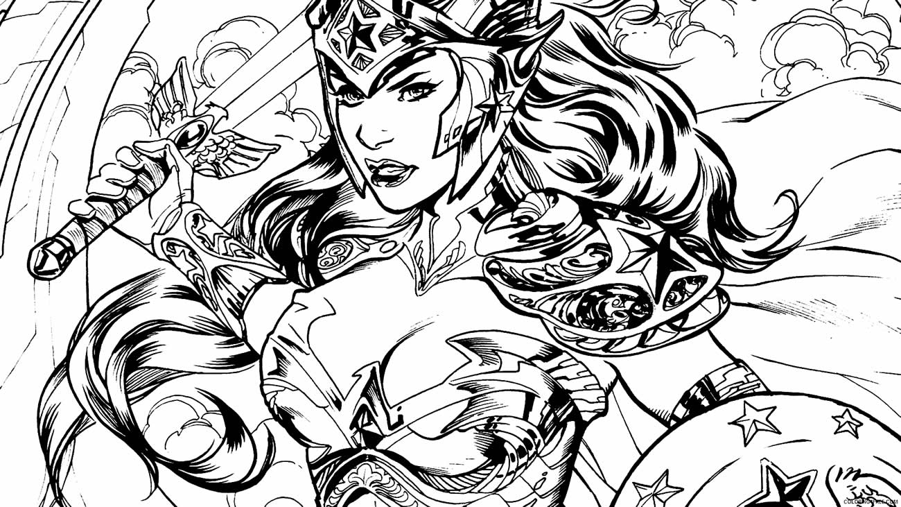 Desenho da Mulher Maravilha para pintar