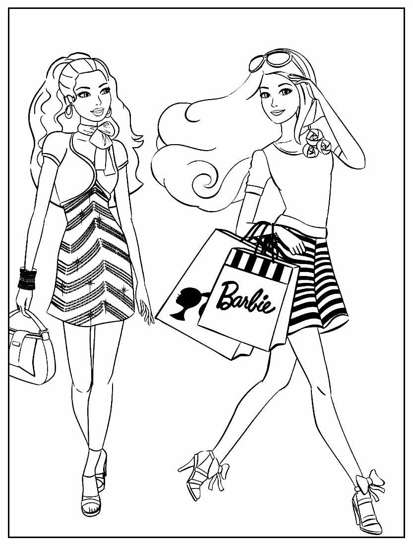 Página para colorir da Barbie