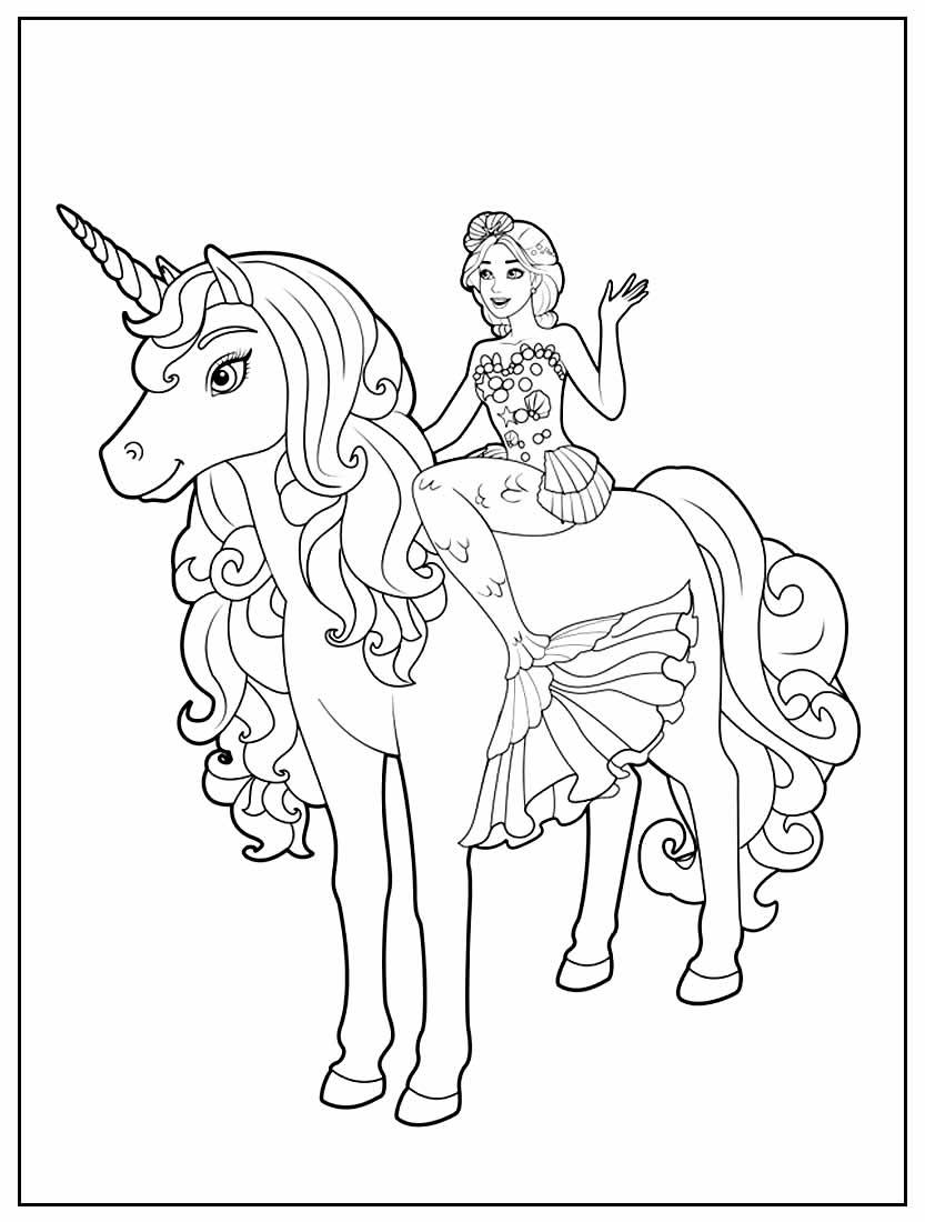Páginas para colorir da Barbie