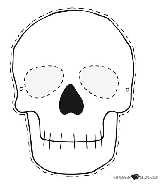desenho de caveira para imprimir