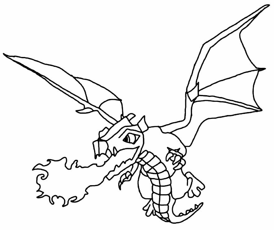 Dragão para colorir - Clash Royale - Clash of Clans