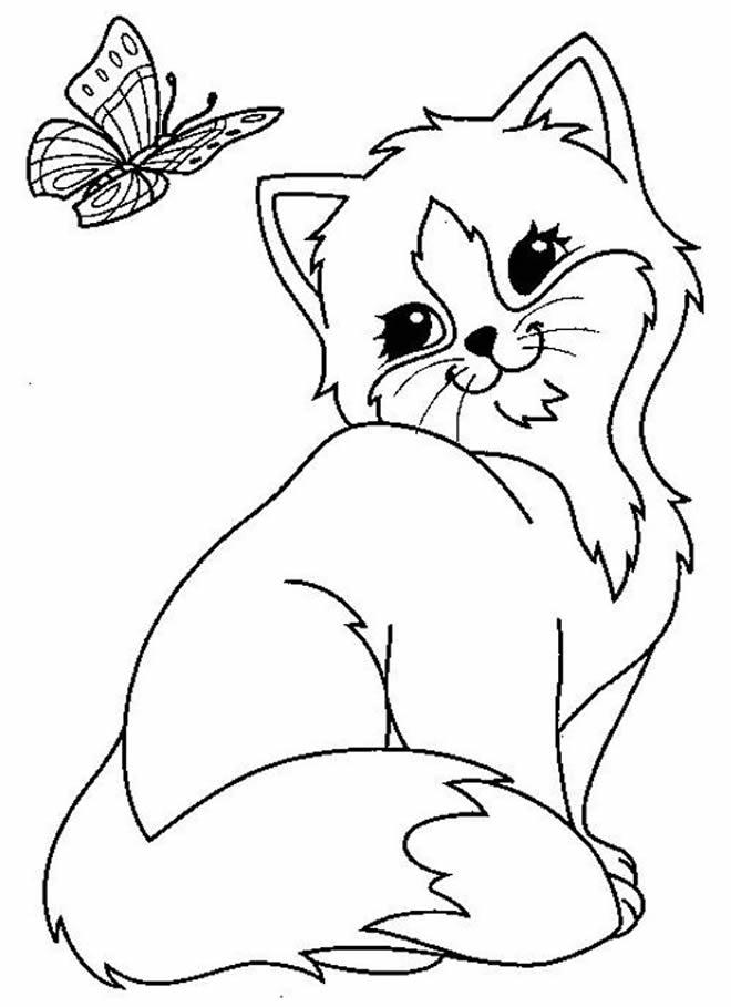 Desenho de gatinho para pintar