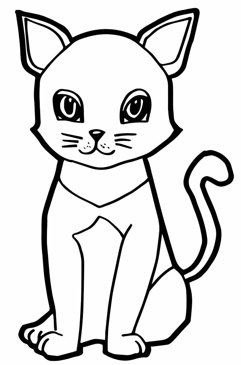 Desenho de gato para pintar