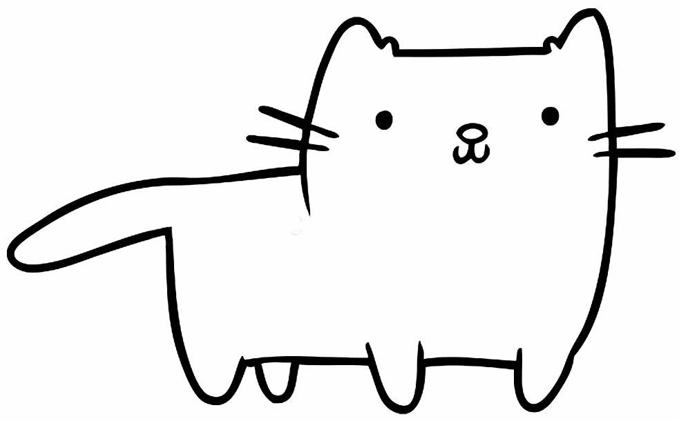 Desenho de gatinho para imprimir e colorir
