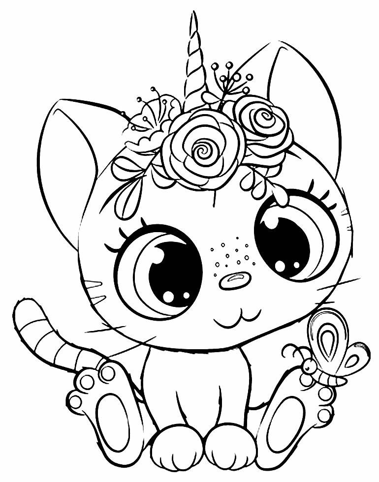 Imagem de gatinho para colorir