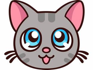 Lindo desenho de gatinho