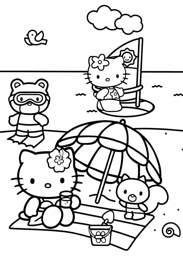 Imagem da Hello Kitty para pintar