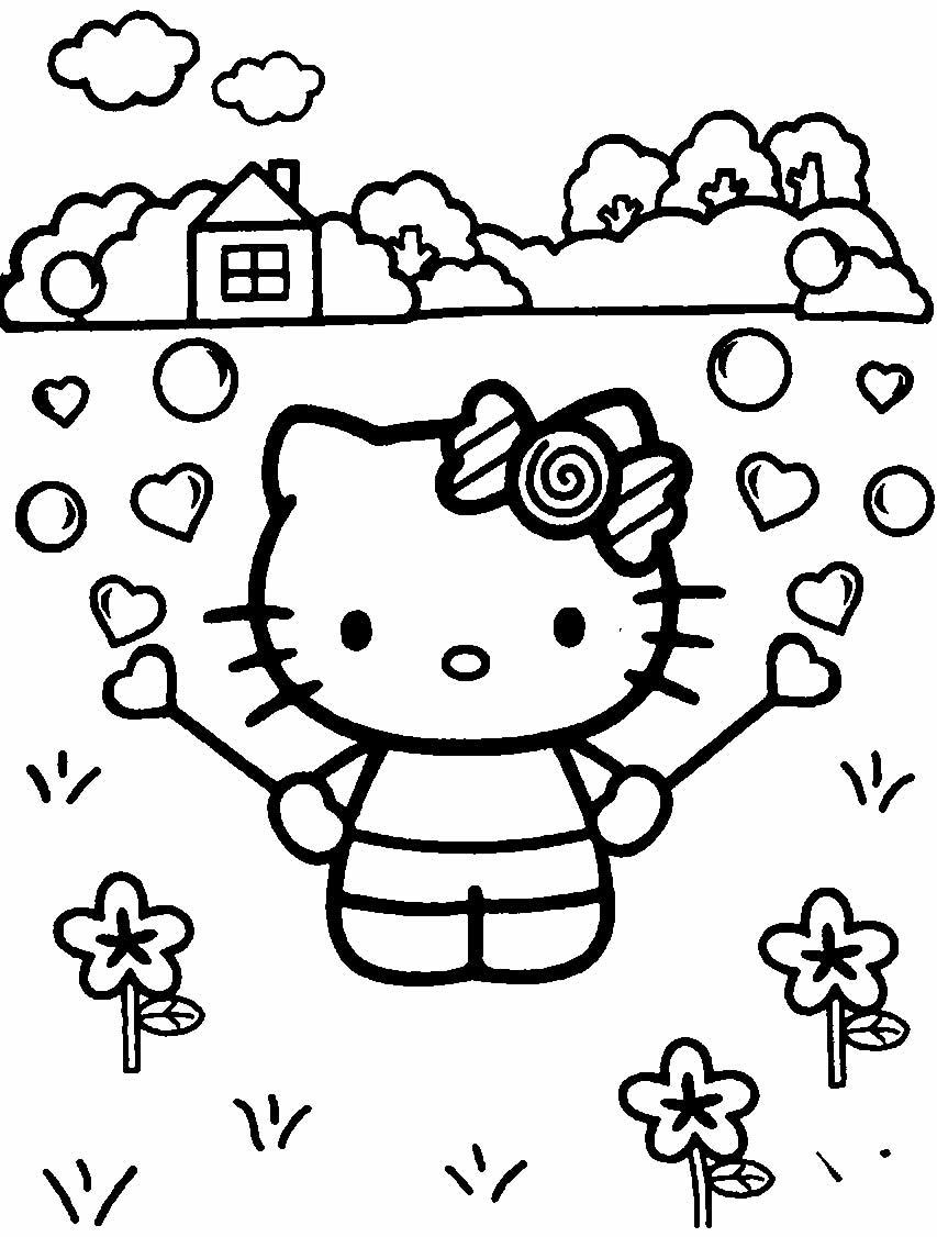 Desenhos da Hello Kitty para pintar
