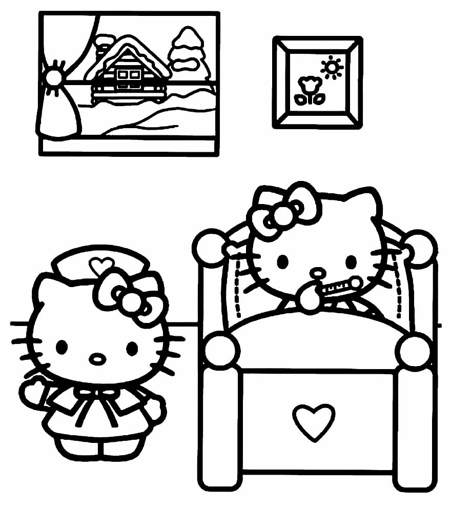 Imagem da Hello Kitty para colorir
