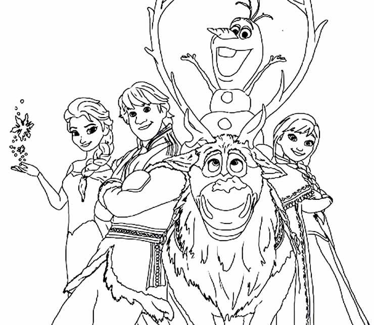 Desenho para pintar do Olaf e da Frozen
