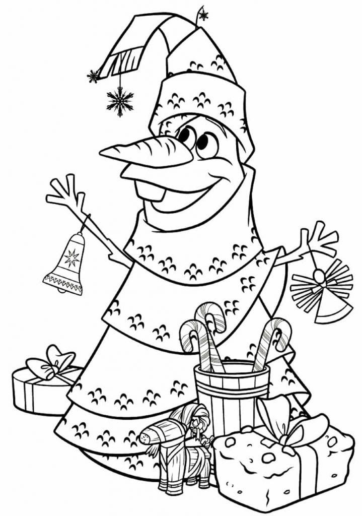 Desenho para pintar de Olaf