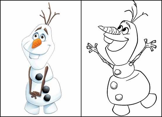 Desenho para colorir do Olaf