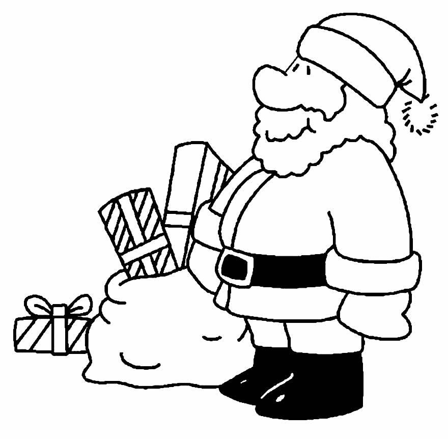 Desenho para pintar do Papai Noel