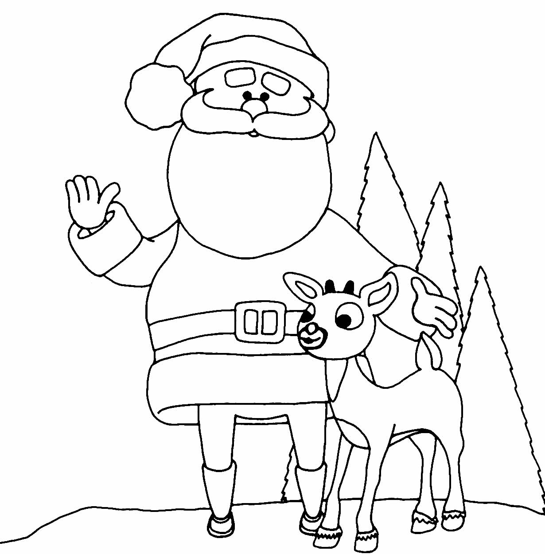 Desenho lindo de Papai Noel para colorir