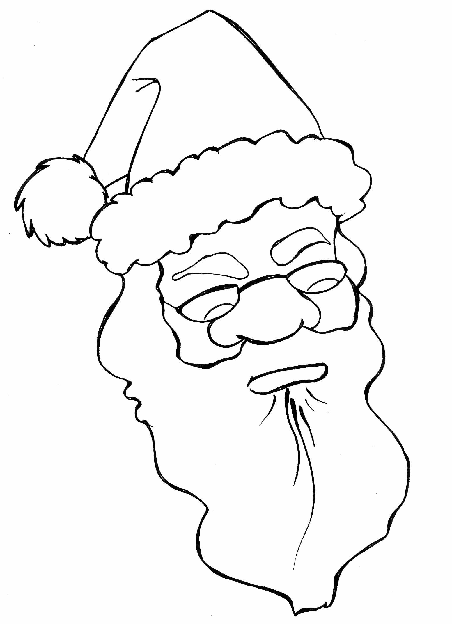 Desenho fofo de Papai Noel