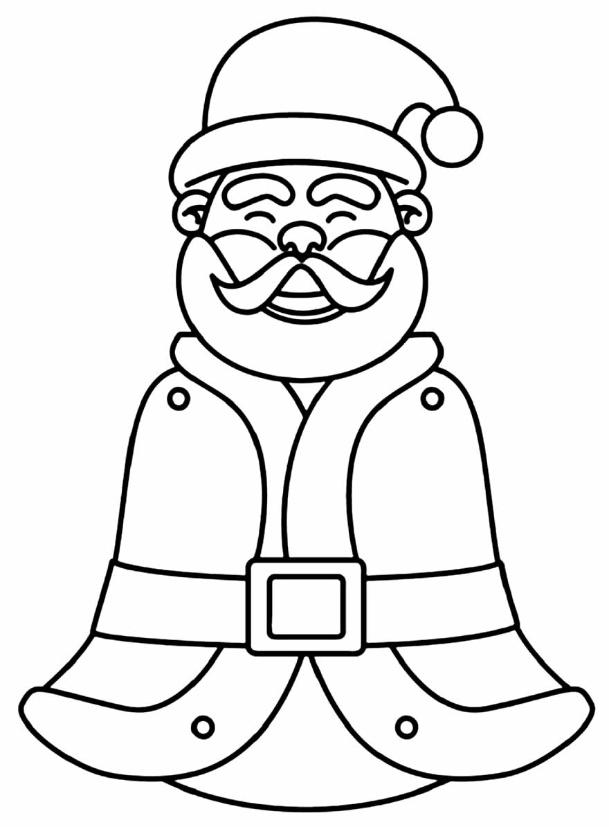 Desenho lindo de Papai Noel