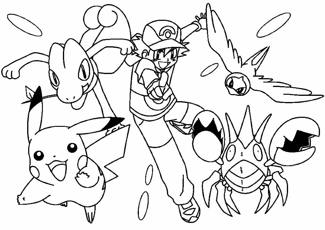 Desenho lindo de Pikachu para pintar