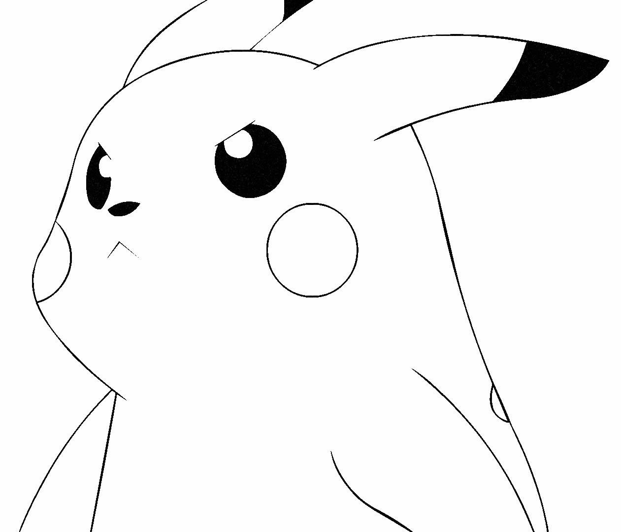 Desenho para pintar de Pikachu