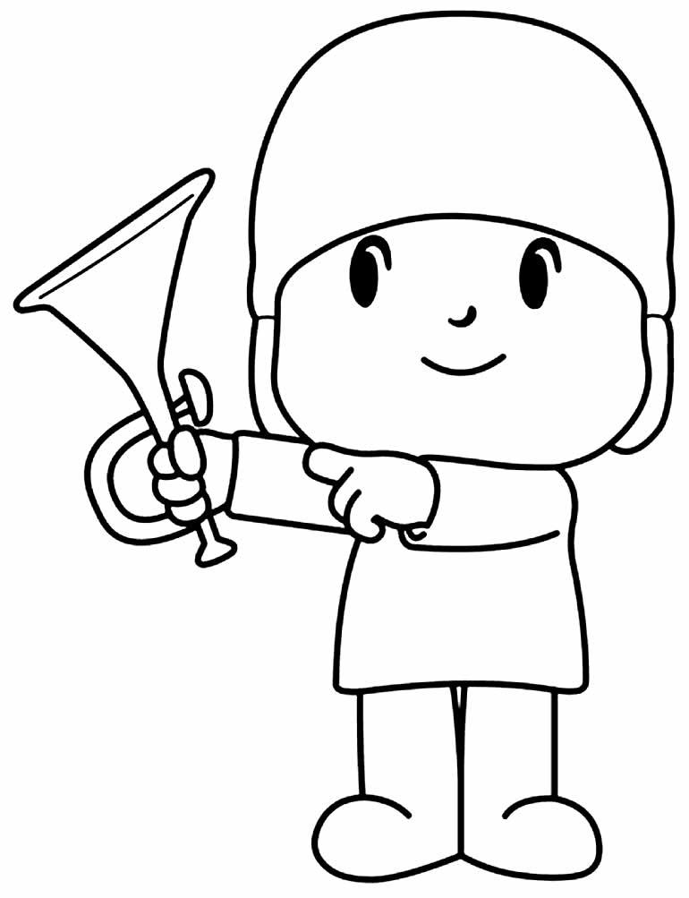Lindo desenho de Pocoyo para colorir