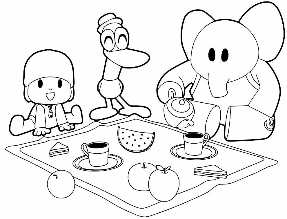 Lindo desenho de Pocoyo