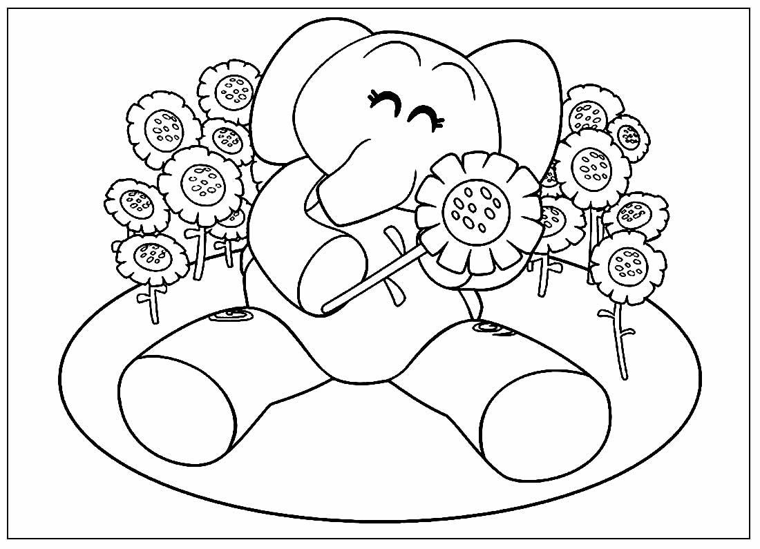 Desenho para colorir de Pocoyo