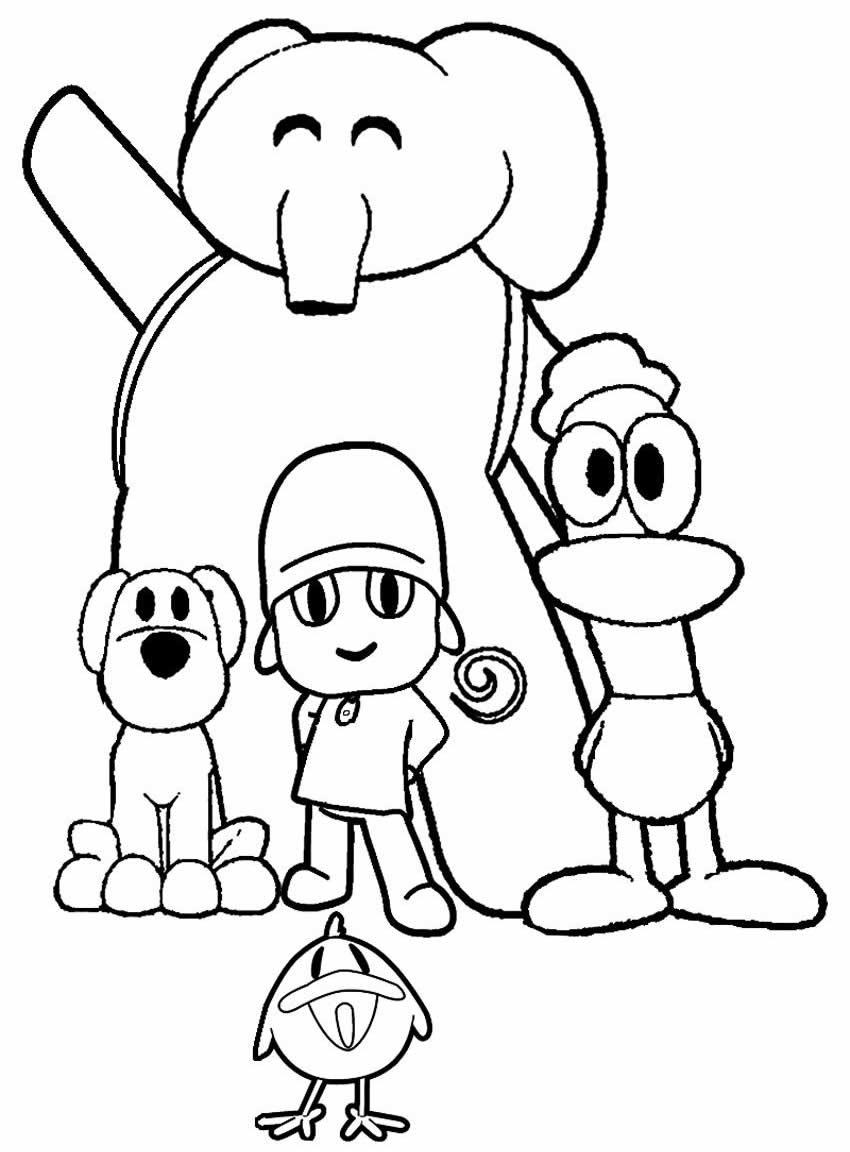 Imagem para colorir de Pocoyo