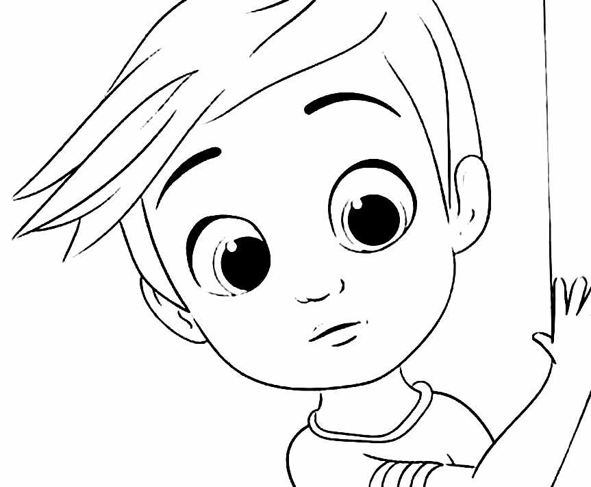Desenho para colorir do Poderoso Chefinho