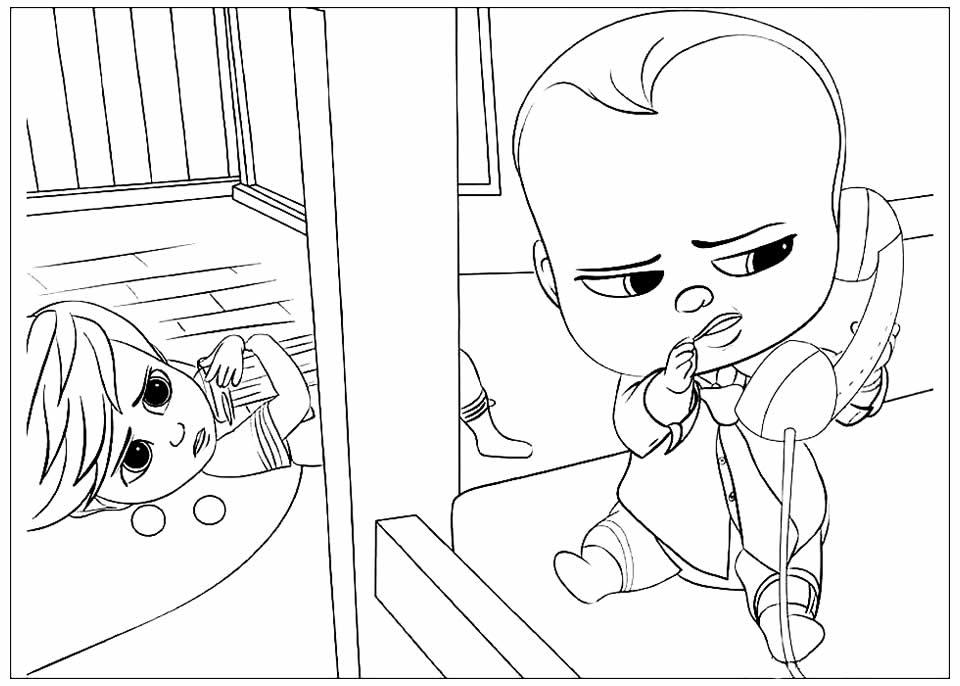 Desenho para pintar do Poderoso Chefinho