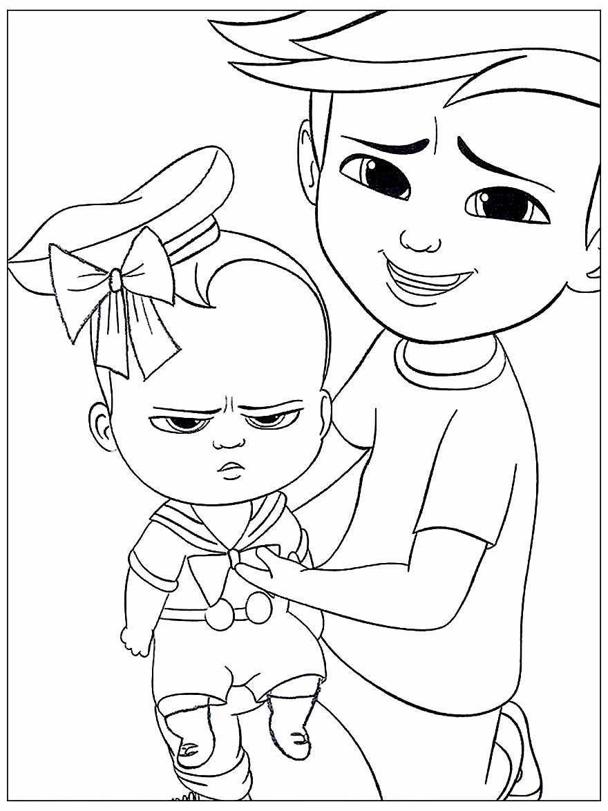 Desenho do Poderoso Chefinho para imprimir e colorir