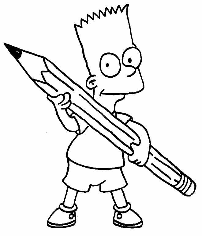 Desenho de Bart Simpson para colorir
