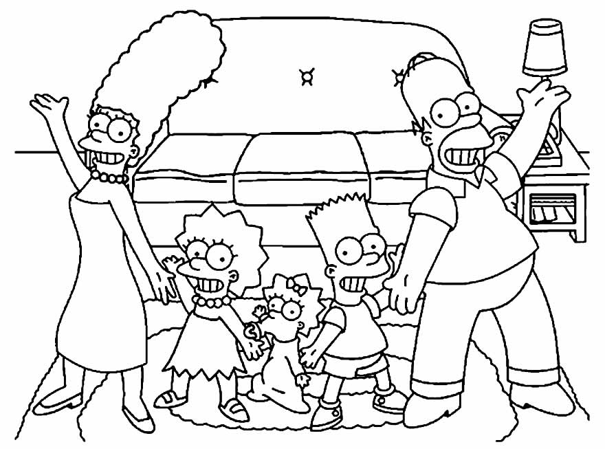 Desenhos lindos dos Simpsons