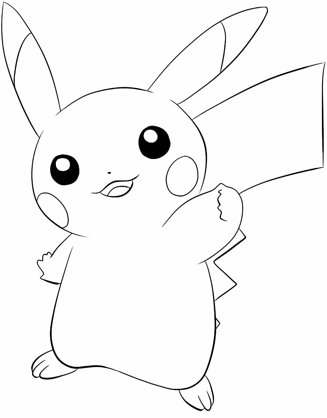 Desenho lindo de Pikachu