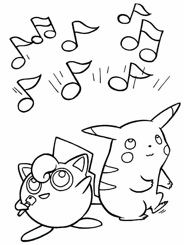 Desenho de Pikachu para imprimir e pintar