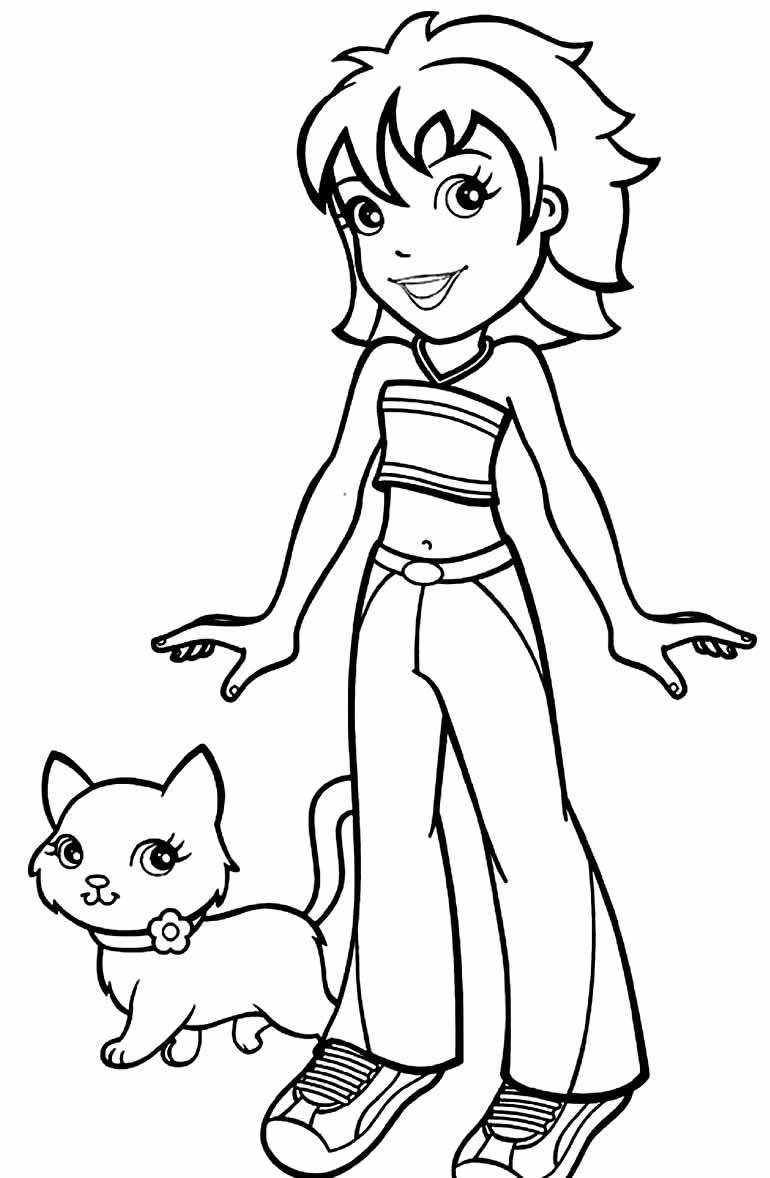 Desenhos da Polly Pocket para pintar