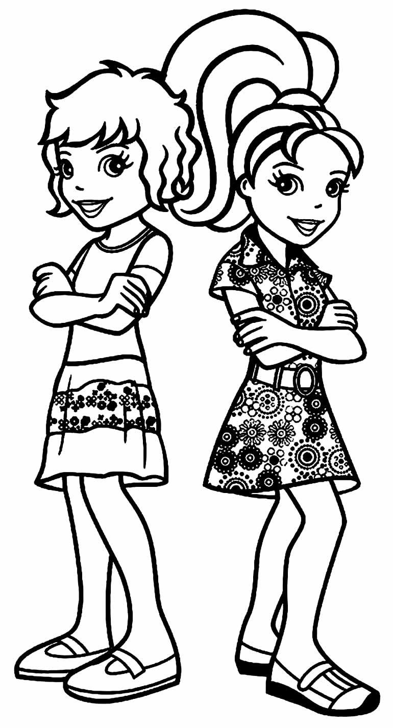 Desenhos da Polly Pocket para colorir