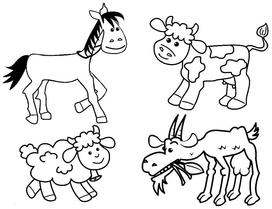 Imagem de fazenda para pintar e colorir