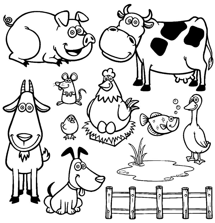 Imagem de fazenda para colorir