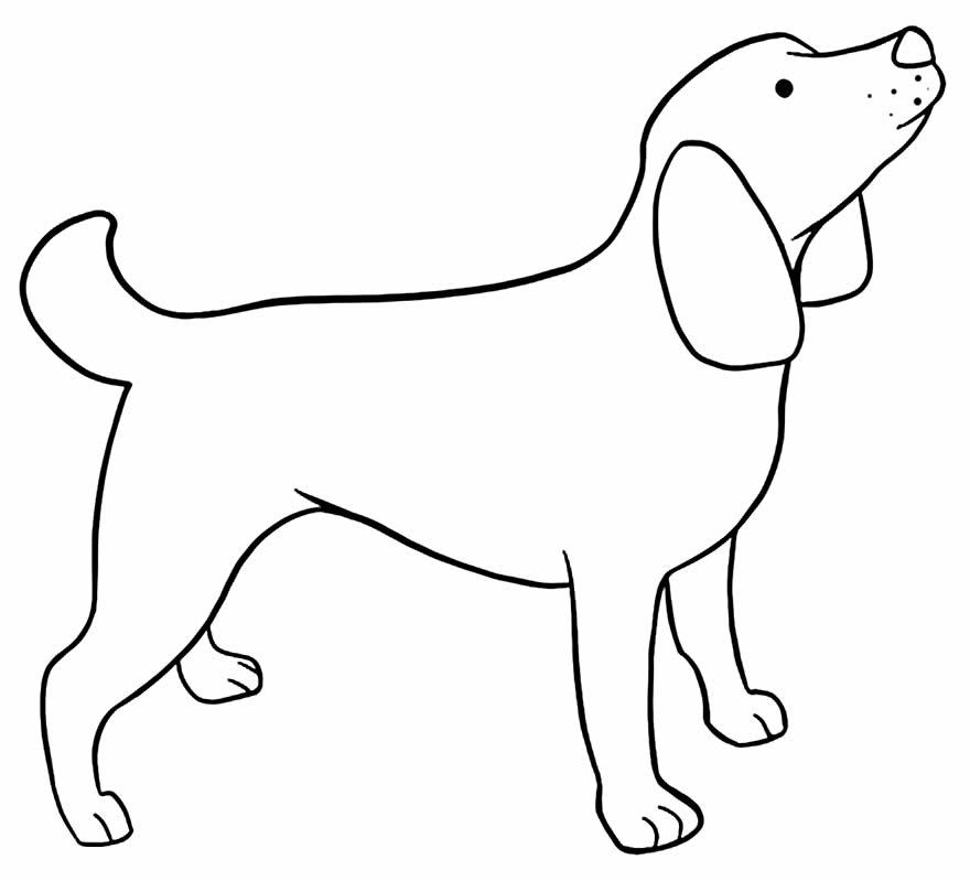 Imagem de cachorro para colorir e pintar