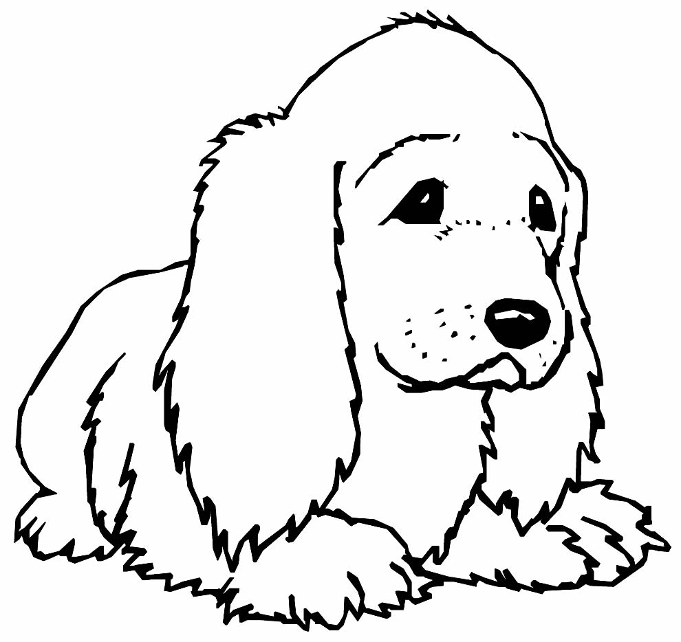 Desenho de cachorro para colorir e pintar