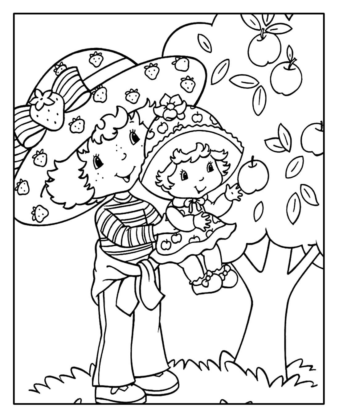 Páginas para colorir da Moranguinho