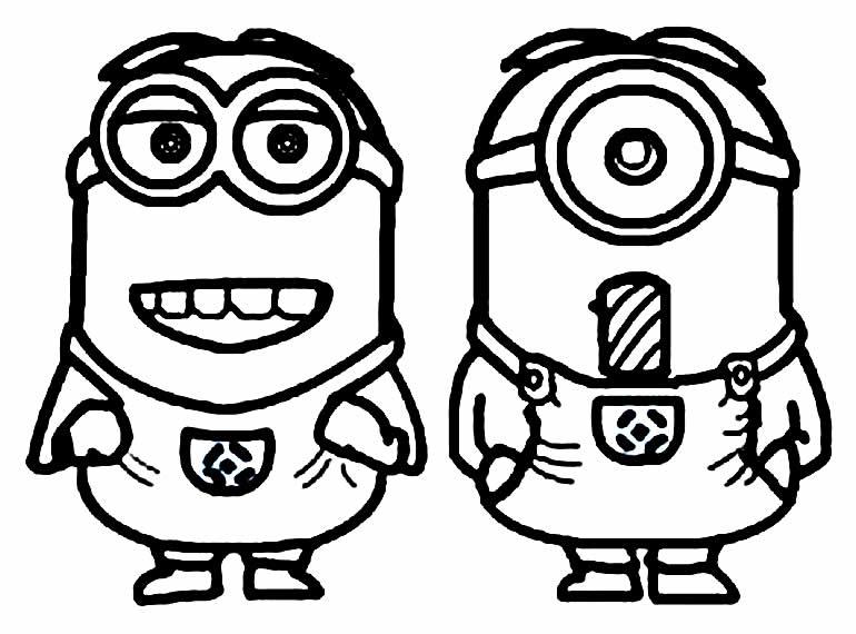 Desenho para colorir dos Minions