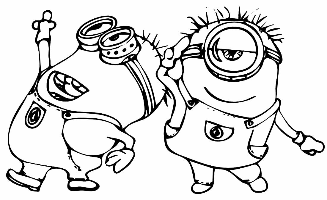 Desenhos dos Minions para colorir