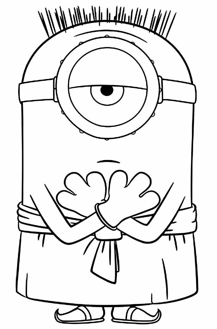 Desenho dos Minions para colorir