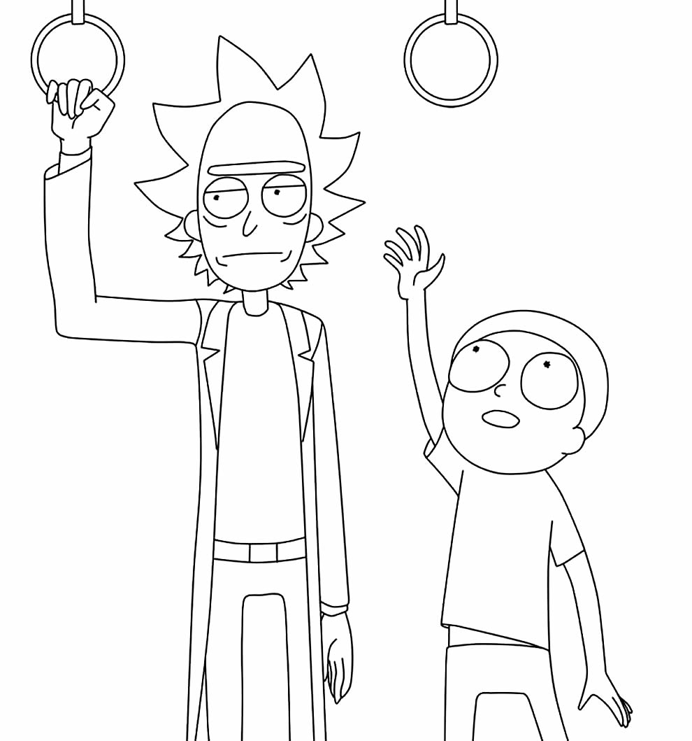 Desenho de Rick & Morty para pintar
